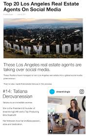 top 20 los angeles real estate agents on social media