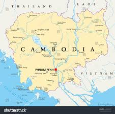 Southeast Asia Political Map by Cambodia Political Map Capital Phnom Penh Stock Vector 449609410