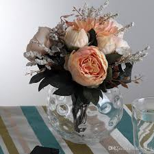 Wholesale Glass Flower Vases Wholesale Handmade Clear Round Glass Vase Candle Holder Bubble For