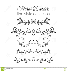 flourishes dividers set line style decoration ornamental