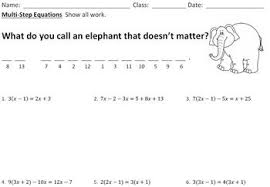 23 math jokes worksheets for pre algebra and algebra by plant