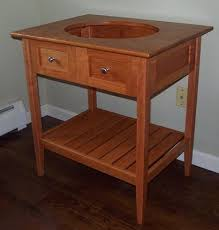 Shaker Style Bathroom Cabinets by Hand Made Shaker Open Style Bathroom Vanity By Timeless Wood