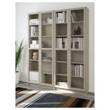 Ikea White Bookcase With Glass Doors Billy Oxberg Bookcase White Glass 160x202x28 Cm Ikea