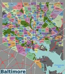 Crime Map By Zip Code by List Of Baltimore Neighborhoods Wikipedia