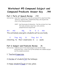 16 best images of worksheets subject and predicate printable