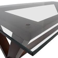 ava glass display wood desk 64 off pottery barn pottery barn ava glass and wood desk tables