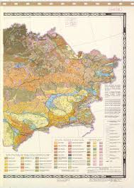 Ussr Map Title In Russian Soil Map Of The Kazakh Ssr Ussr East Part