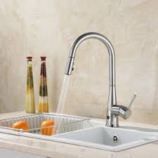 touchless faucets kitchen brushed nickel kitchen faucets you ll wayfair