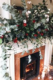 my home at christmas how to make this fireplace garland