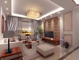 china modern living room suspended ceiling and tv wall 3d house