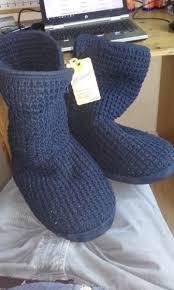 s knit boots size 12 mantaray navy waffle knit slipper boots size 12 dublin