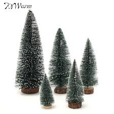 kiwarm mini artificial tree ornaments figurines
