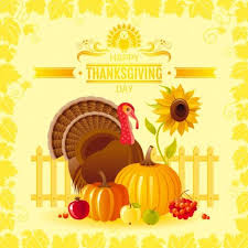 happy thanksgiving day seasonal greetings cards vector 11 vector