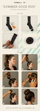 hair you wear summer sock bun hair tutorial diy high bun sock buns socks