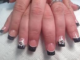 Nail Art Design Black 45 Cool Black French Tip Nail Art Designs For Trendy Girls