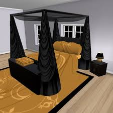 Gold And Black Bedroom by Second Life Marketplace Darque Passions Bedroom Furniture Black