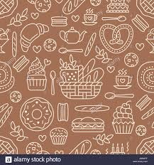 seamless pattern food bakery seamless pattern food vector background of brown white