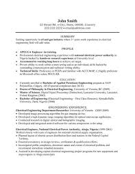 Resume Electrician Sample by Electrical Engineer Resume Sample Sample Resumes