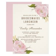 invitations for bridesmaids bridal luncheon invitations