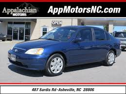 honda civic 2001 sale 2001 honda civic ex for sale in asheville
