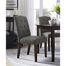 better homes and gardens parsons tufted dining chair gray