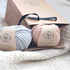 knit your own baby s classic blanket knit kit by stitch story