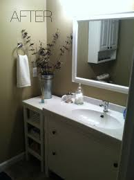 bathroom white cabinet and stainless faucet with acrylic floating interesting bathroom mirror above ikea vanities with drawers and storage plus new design round iron