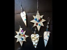glitzy ornaments from cereal box recycle reuse
