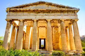 imagenes de antigua atenas vista panorámica del templo de hefesto en el ágora antigua atenas