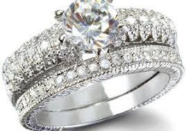 Vintage Wedding Ring Sets by Vintage Wedding Rings Set Tudor Rose Illusion Head Classic Vintage