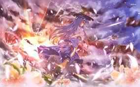 marisa kirisame touhou anime sitting sad wallpaper