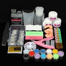 acrylic nail art set kit liquid crystal powder liquid clipper