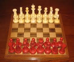 reproduction of a u0027staunton u0027 chess set dorking desks