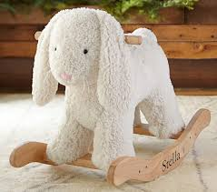bunny plush sherpa bunny plush rocker pottery barn kids