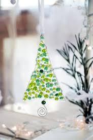 fused glass tree ornament suncatcher fused glass