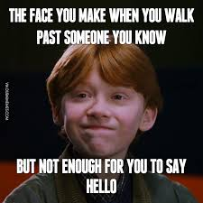 You Know Meme - the face you make when you walk past someone you know but not enough