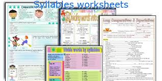 4th grade syllable worksheets 4th grade printable worksheets