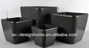 Square Plastic Planters by Large Grey Square Plastic Self Watering Flower Pot Buy Self