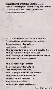 wedding quotes country i my country sri lanka poem by ravi sathasivam