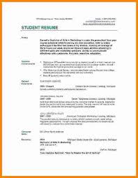 Examples Of College Student Resumes by 6 Job Resume Samples For College Students Ledger Paper
