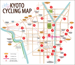 Cherry Blossom Map Kyoto Cycling Map Japan U003c3 Pinterest Kyoto Japan And Japan Trip