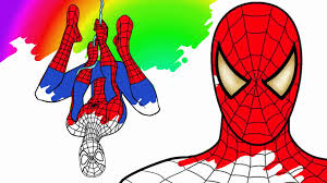 30 minutes spiderman coloring pages for children learn colors