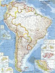 national geographic south america map 1960 maps