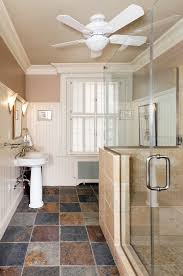 Beadboard Walls And Ceiling by Slate Tile Bathroom Bathroom Contemporary With Beadboard Ceiling