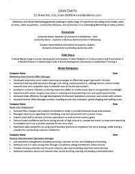 resume template for internship internship resume template sle of internship resume marketing