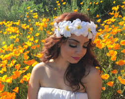 hippie flower headbands hippie headband etsy