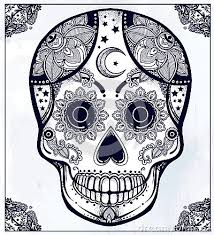 sugar skull image day of the dead coloring sugar