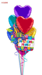 welcome home balloon bouquet heartfelt welcome home balloon bouquet 8 balloons balloon