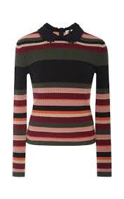 striped knit sweater by red valentino moda operandi