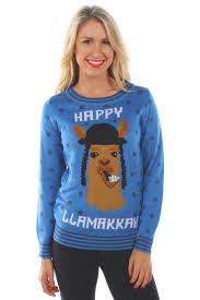 happy hanukkah sweater women s happy llamaka sweater tipsy elves